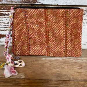 Anthropologie Quilted Zip Pouch